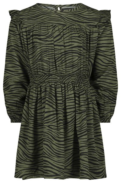 kinderjurk zebra legergroen - 1000021092 - HEMA