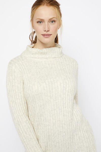 damestrui met wol gebroken wit - 1000021463 - HEMA