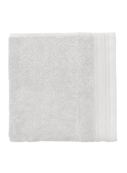 handdoek - 50 x 100 cm - hotel extra zwaar - lichtgrijs uni - 5240198 - HEMA