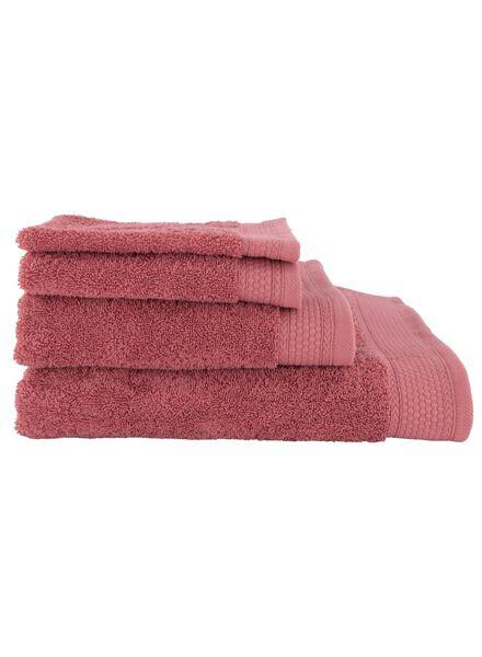 handdoeken - hotel extra zwaar roze roze - 1000020020 - HEMA