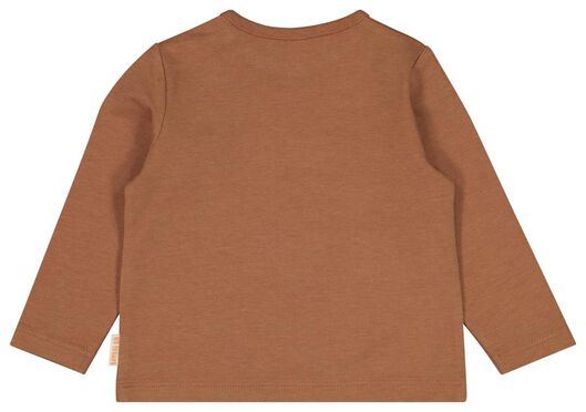 newborn t-shirt giraf bamboe stretch bruin bruin - 1000022136 - HEMA