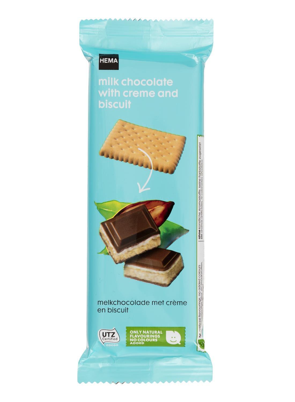HEMA Melkchocolade Met Crème En Biscuit