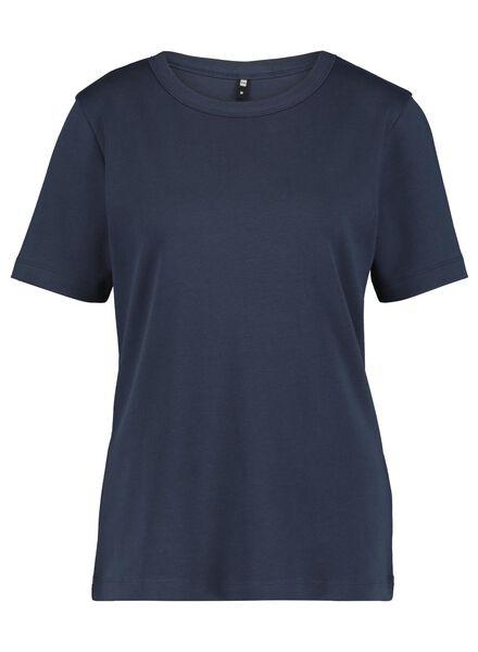 dames t-shirt donkerblauw donkerblauw - 1000014832 - HEMA