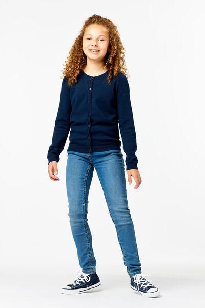 kinder jeans skinny fit middenblauw 122 - 30853465 - HEMA