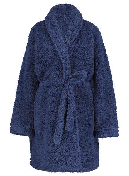 dames badjas donkerblauw donkerblauw - 1000017239 - HEMA