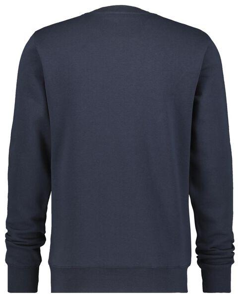 herensweater crewneck donkerblauw XL - 34287562 - HEMA