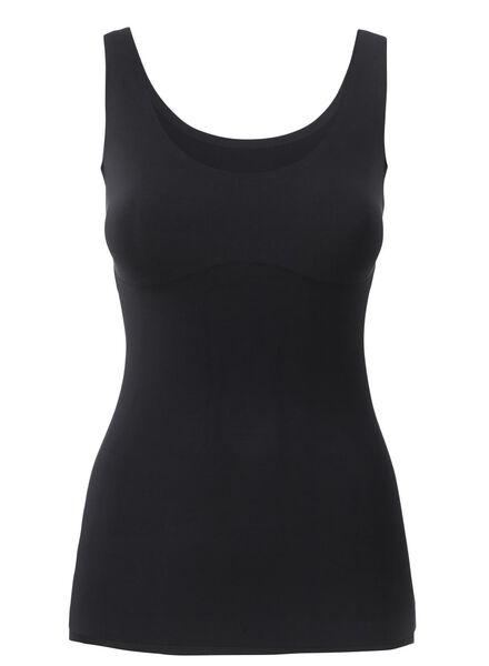 naadloos dameshemd zwart zwart - 1000002420 - HEMA