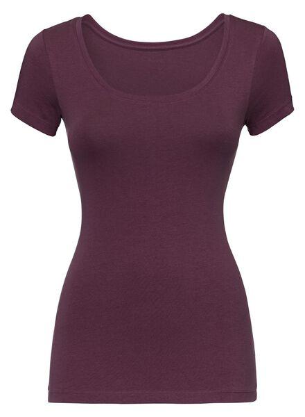 dames t-shirt donkerrood donkerrood - 1000005150 - HEMA