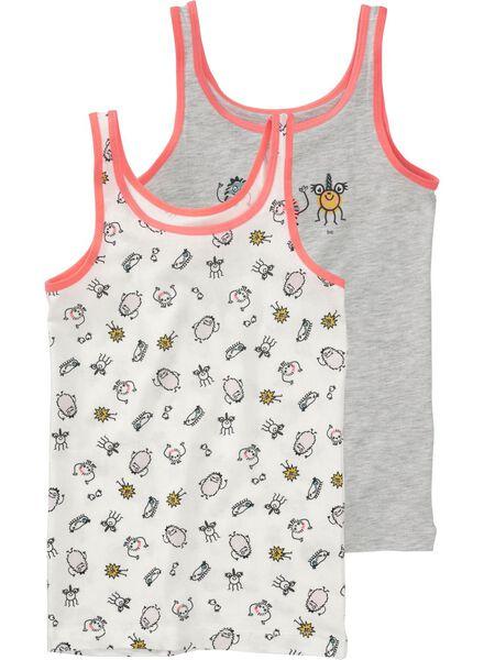 2-pak kinderhemden grijsmelange grijsmelange - 1000009764 - HEMA