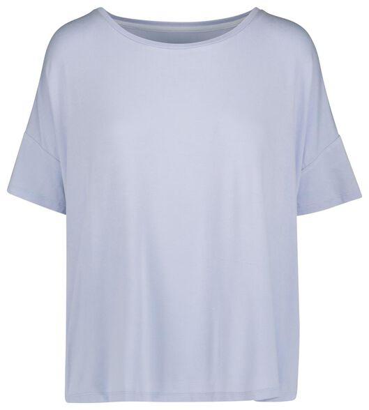 dames nacht t-shirt lichtblauw - 1000019782 - HEMA