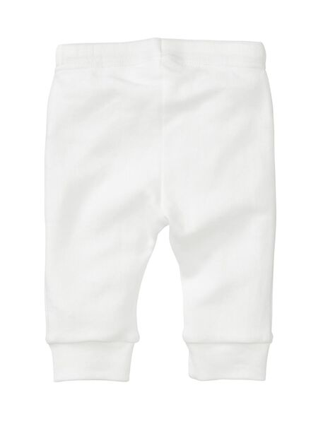 2-pak newborn broeken biologisch katoen gebroken wit - 1000005704 - HEMA