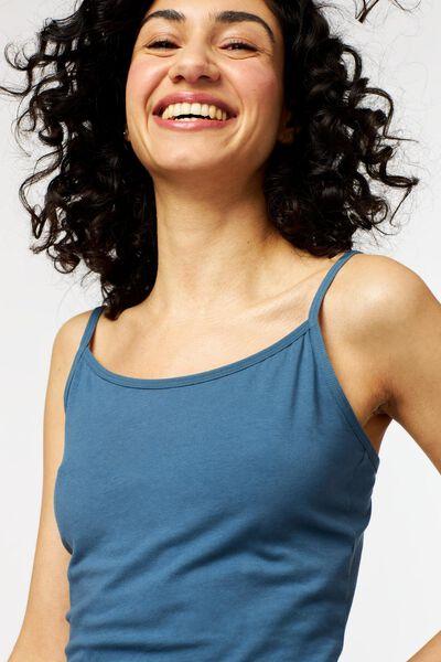 dameshemd spaghettibandjes middenblauw middenblauw - 1000022961 - HEMA