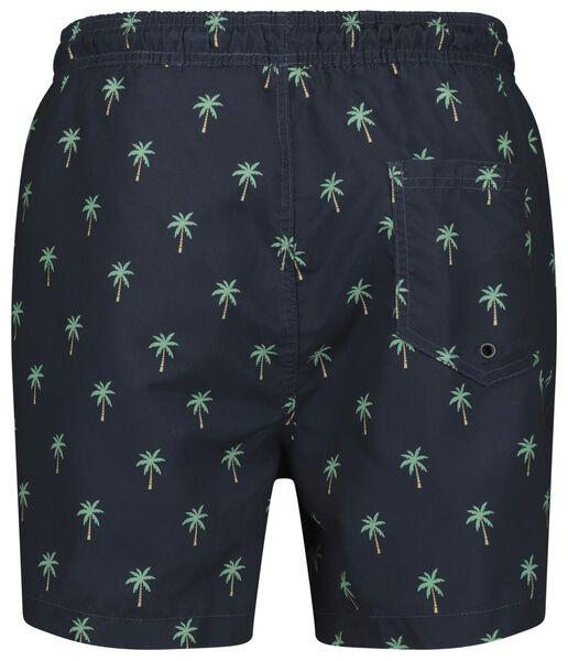 heren zwembroek palmbomen donkerblauw donkerblauw - 1000022673 - HEMA