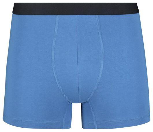 3-pak herenboxers lang katoen stretch donkerblauw donkerblauw - 1000019049 - HEMA