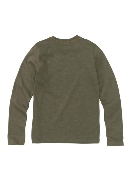 kinder t-shirt olijf - 1000008578 - HEMA
