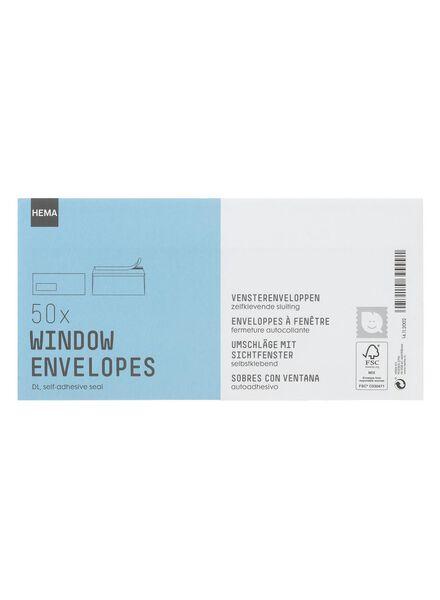 50-pak vensterenveloppen DL - 14112002 - HEMA