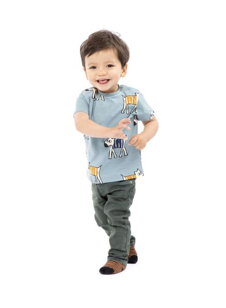 baby t-shirt lichtblauw lichtblauw - 1000014311 - HEMA