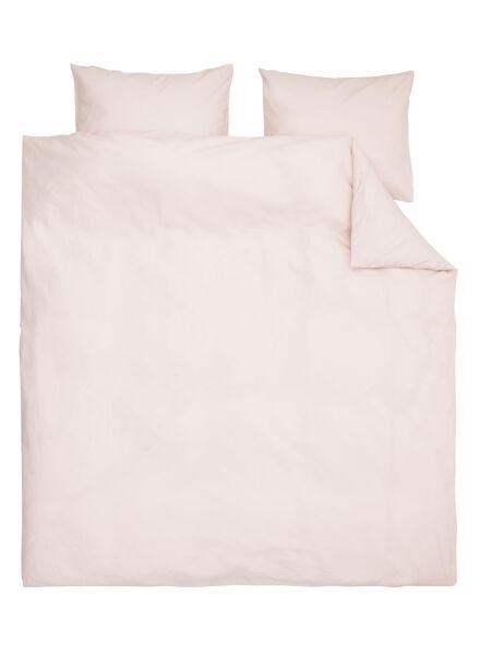 dekbedovertrek - zacht katoen - 200 x 200 cm - roze - 5700103 - HEMA