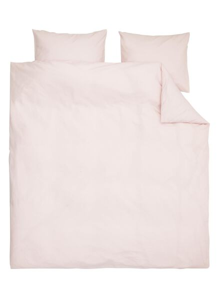 dekbedovertrek - zacht katoen - 200 x 200/220 cm - roze - 5700180 - HEMA
