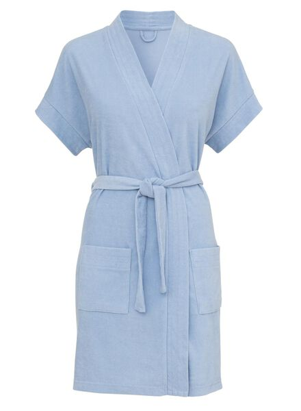 dames badjas felblauw felblauw - 1000008535 - HEMA