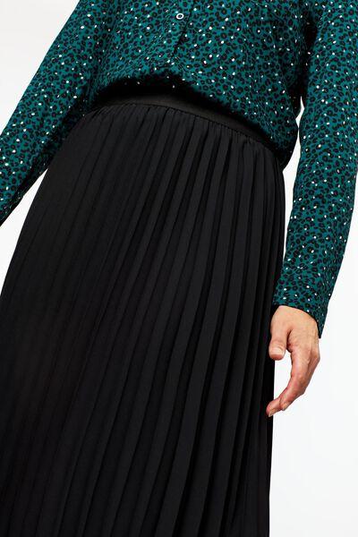 dames plissérok zwart XL - 36202449 - HEMA