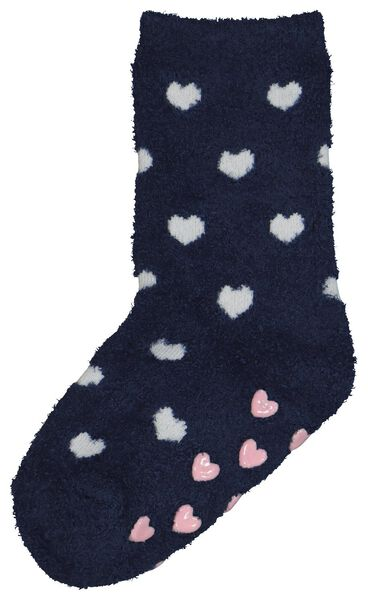 kinderhuissokken hartjes donkerblauw donkerblauw - 1000021434 - HEMA