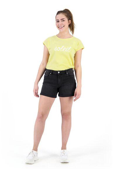 dames t-shirt lichtgeel lichtgeel - 1000019811 - HEMA