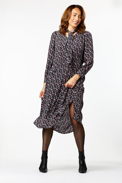 damesjurk met pofmouw multi XL - 36223959 - HEMA