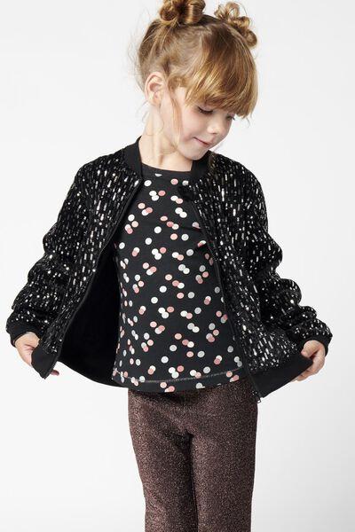 kinder t-shirt stippen zwart zwart - 1000021426 - HEMA