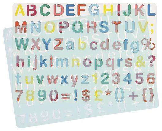 tekensjabloon letters & cijfers - 15900058 - HEMA