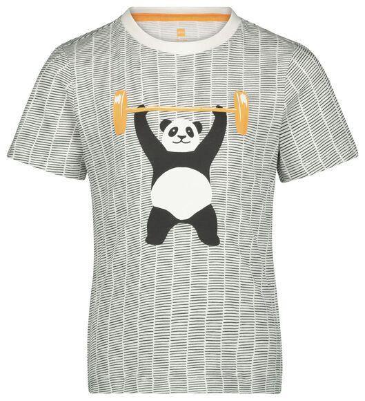 kindershortama panda gebroken wit gebroken wit - 1000022759 - HEMA