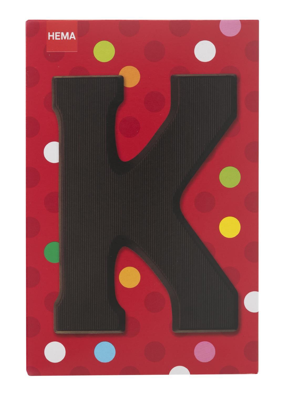 HEMA Pure Chocoladeletter K