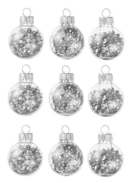 9-pak glazen kerstballen - 25105728 - HEMA