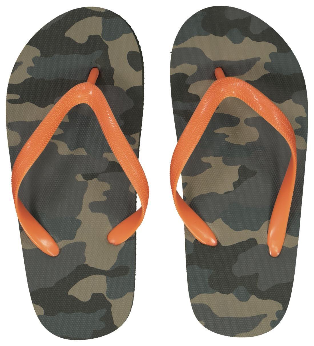 HEMA Kinder Teenslippers Camouflage Donkergroen (donkergroen)