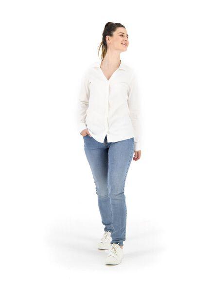 damesblouse wit wit - 1000014864 - HEMA