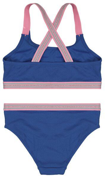 kinder bikini reliëf blauw 146/152 - 22290708 - HEMA