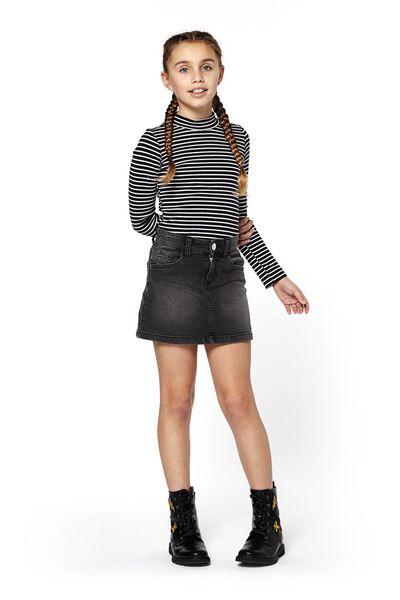 kinder t-shirt zwart/wit zwart/wit - 1000018367 - HEMA