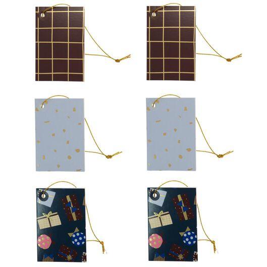 Cadeaulabels met koord 8x5.5 - 6 stuks - in Cadeauverpakkingen & cadeaupapier