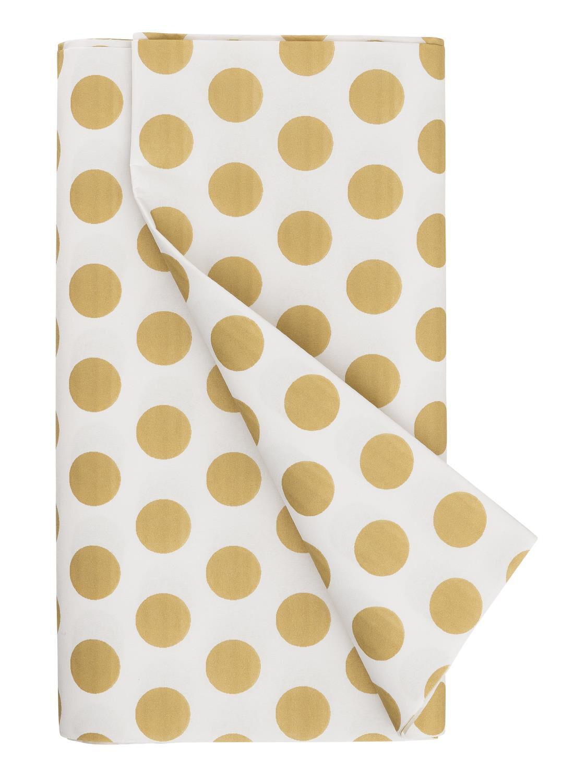 HEMA Tafelkleed – 138 X 220 – Papier – Goud Stippen (goud)