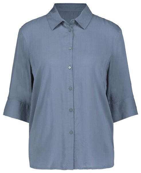 damesblouse blauw L - 36238088 - HEMA