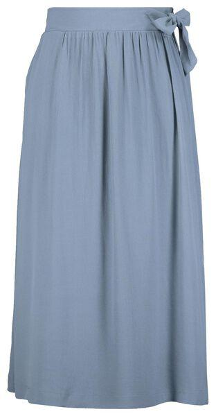 dames overslagrok blauw blauw - 1000023359 - HEMA