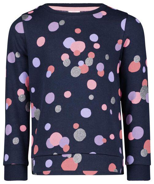 kindersweater donkerblauw 134/140 - 30817420 - HEMA