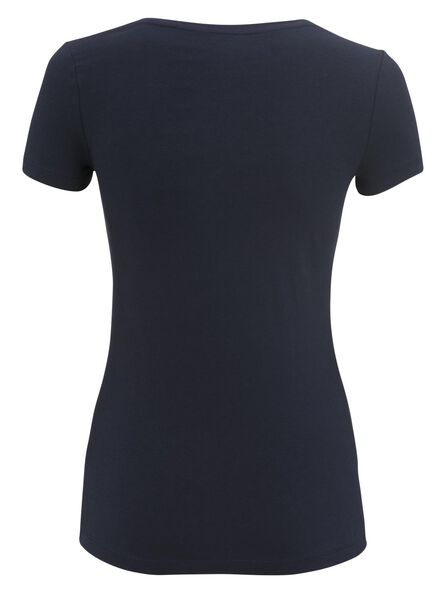 dames t-shirt donkerblauw donkerblauw - 1000004636 - HEMA