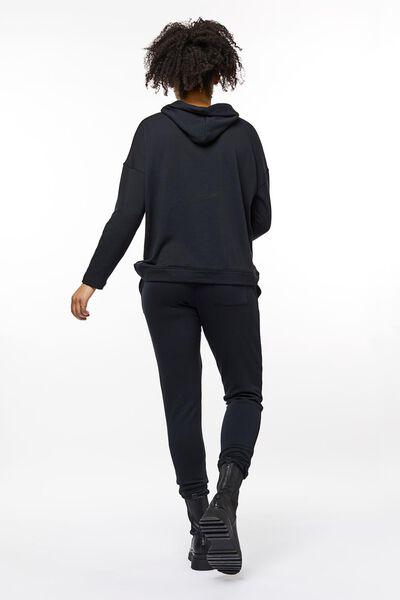 dames capuchonsweater zwart S - 36218381 - HEMA