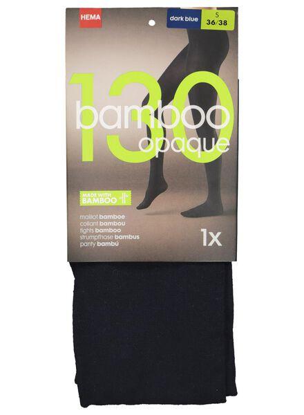 maillot met bamboe 130 denier donkerblauw donkerblauw - 1000016525 - HEMA