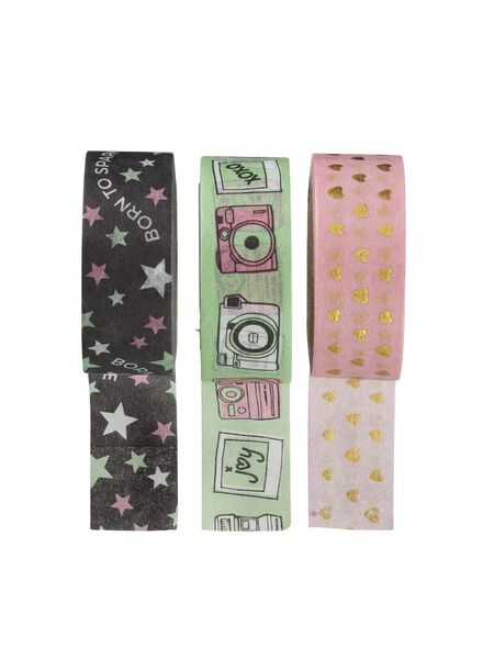 3-pak washi tape Beautynezz - 14920176 - HEMA