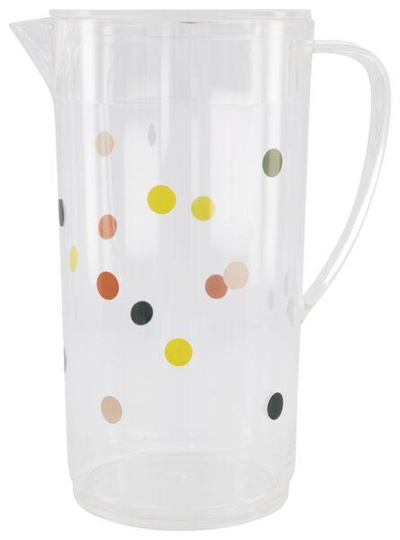 Limonadekan kunststof - 2 liter - stippen