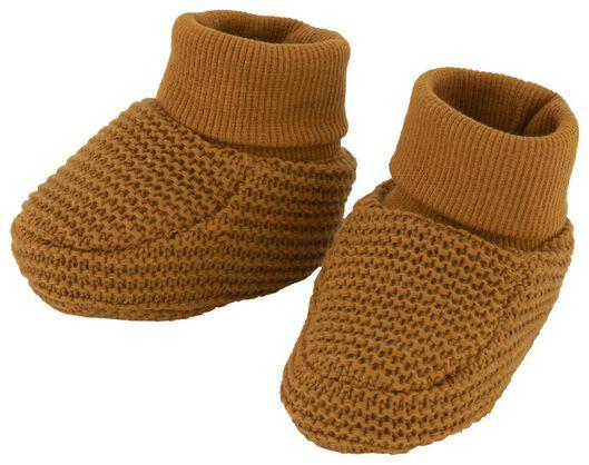 newborn slofjes gebreid bruin bruin - 1000020521 - HEMA