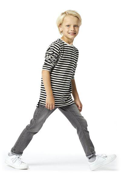 kinderjeans regular fit grijs 152 - 30762483 - HEMA