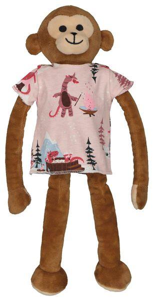 kinderpyjama en poppennachtshirt glamping lichtroze 134/140 - 23044204 - HEMA